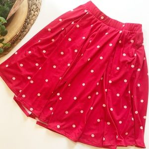 ❤️LuLaRoe Red Polkadot Skirt❤️